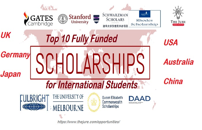 Top 10 Fully Funded Scholarships 2021 | OPPORTUNITIES